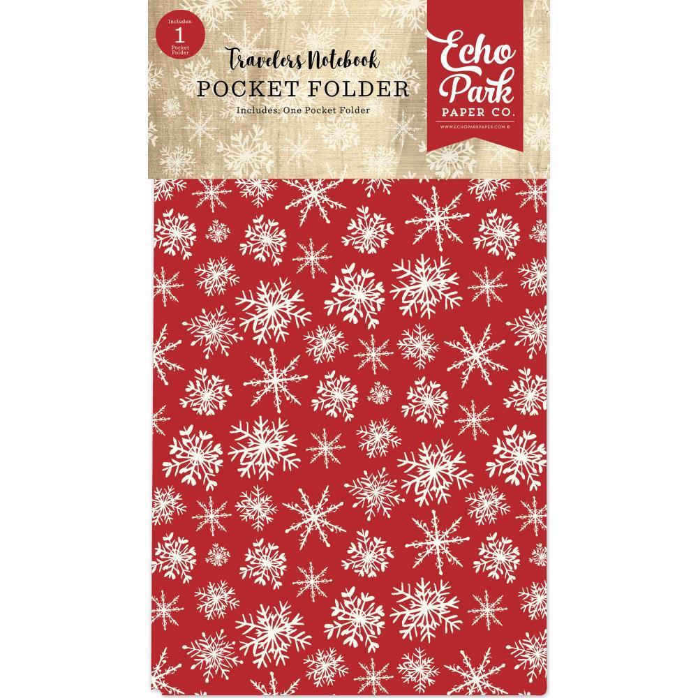 Конверт для тревелбука  - 11х21 см-Echo Park Traveler's Notebook - Christmas Pocket Folder- 1 шт