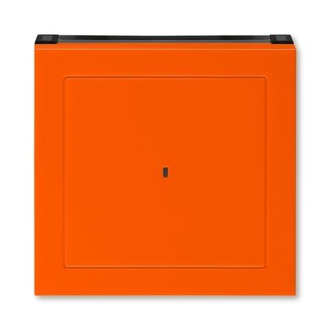 Лицевая панель карточного выключателя. Цвет Оранжевый / дымчатый чёрный. ABB. Levit(Левит). 2CHH590700A4066