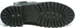 Женские ботинки на низком ходу Jina 7113 Leather Black