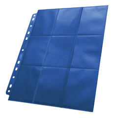 Ultimate Guard - Синий двухсторонний лист для альбома на кольцах 3х3