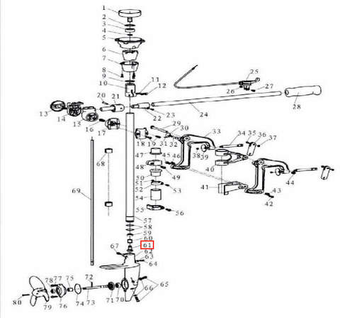 Шестерня ведущая для лодочного мотора T3,5 Sea-PRO