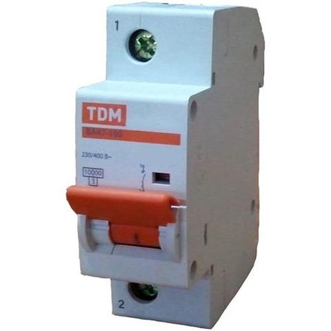 Авт. выкл. ВА47-100 1Р 100А 10кА  х-ка С TDM
