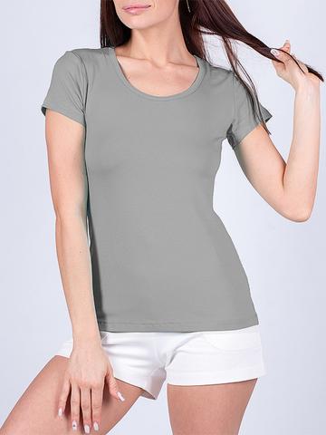 1248 футболка женская, серая
