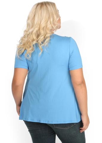 Футболка ПФВ03 голубая для беременных