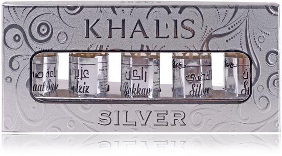 Khalis Silver Кхалис Сильвер (набор) 12,5 мл арабские масляные духи от Халис Khalis Perfumes