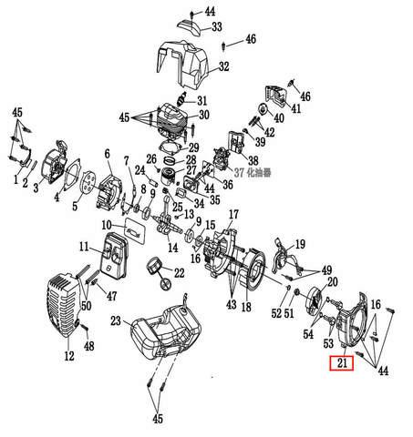 Крышка сцепления  для лодочного мотора T2 SEA-PRO