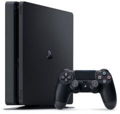 Sony PlayStation 4 Black Slim 1Tб + PS+ 3 месяца, Horizon: Zero Dawn, GT Sport, God of War
