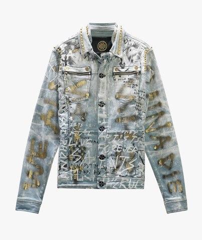 Куртка джинсовая The Saints Sinphony GRAFFITI JACKET LT. BLUE