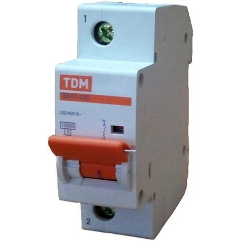 Авт. выкл. ВА47-100 1Р 16А 10кА  х-ка С TDM