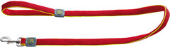 Поводок для собак Hunter Maui 25/120 сетчатый текстиль  красный