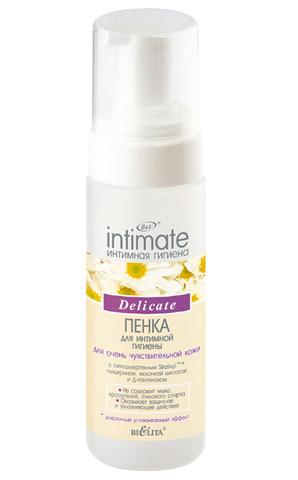 Пенка для интимной гигиены для очень чувствительной кожи Delicate