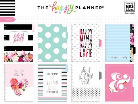 Разделительные страницы для ежедневника Happy Planner BIG- Life is Lovely Dividers