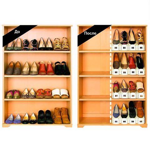 Подставки для обуви Double Shoe Racks  помогу вам правильно организ...