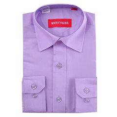 66-2 рубашка для мальчиков, сиреневая