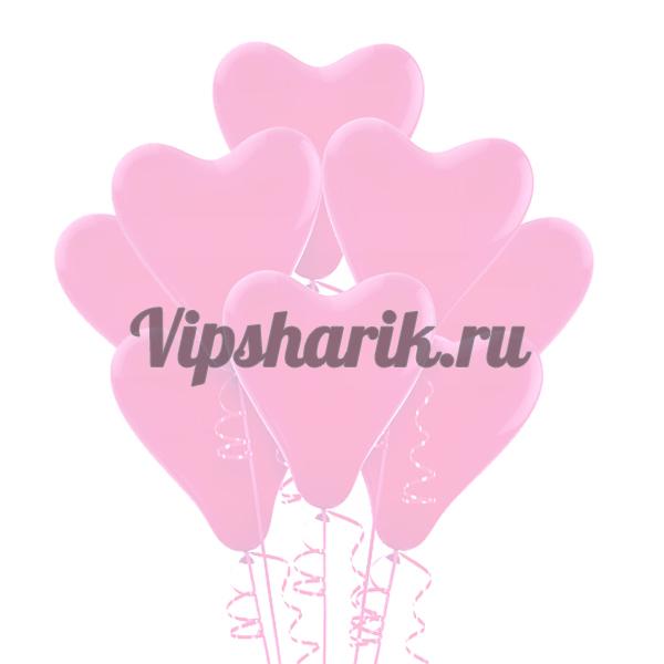 Шары В форме сердца розовые