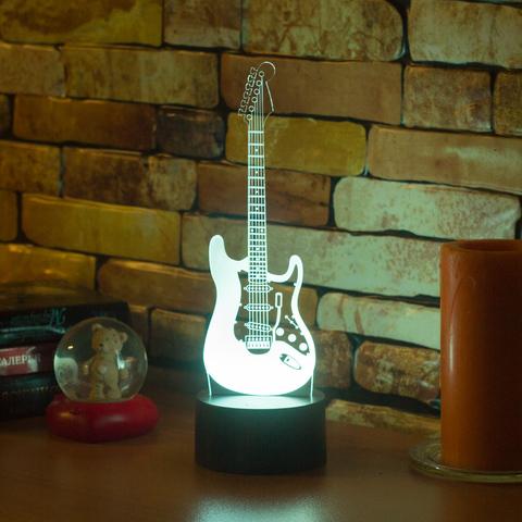 3D светильник Электрогитара