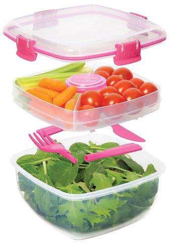 Ланч-бокс Sistema для салата, зеленый 1,1 л