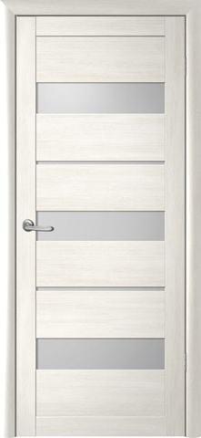 Дверь Фрегат ALBERO Прага, стекло матовое, цвет кипарис белый, остекленная