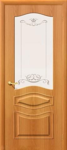 Дверь Дера Леона, цвет миланский орех, остекленная