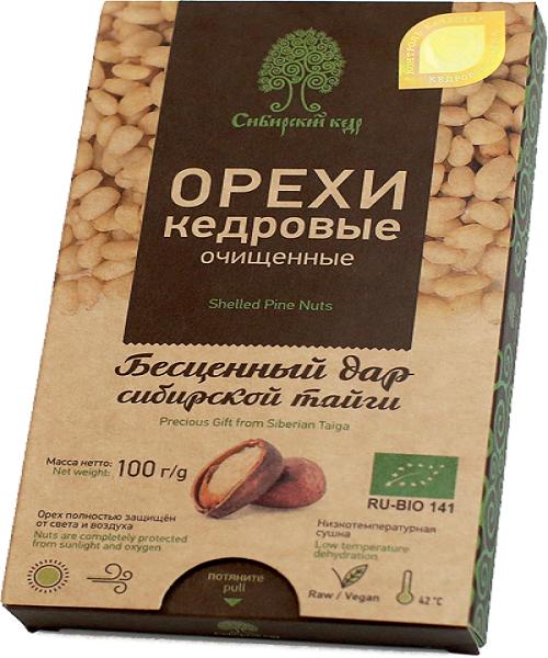 Ядро кедрового ореха, Сибирский Кедр, 100 г.