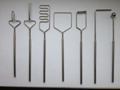 Комплект профессиональных логопедических зондов из 7 штук с улучшенными ручками