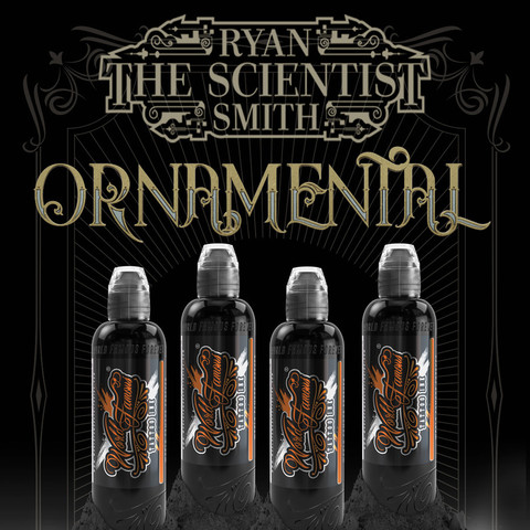 Краска World Famous Tattoo Ink RYAN SMITH - ORNAMENTAL INK SET - 4шт