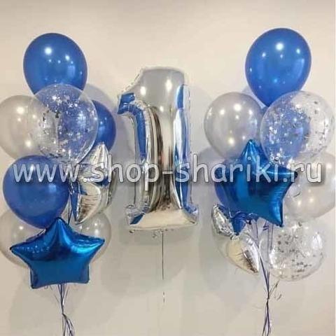 Композиция из шаров на день рождения мальчику