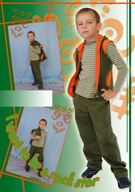 Выкройка жилета для мальчика из футера