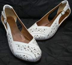 Женские босоножки на низком каблуке Marani Magli 031 405 White.