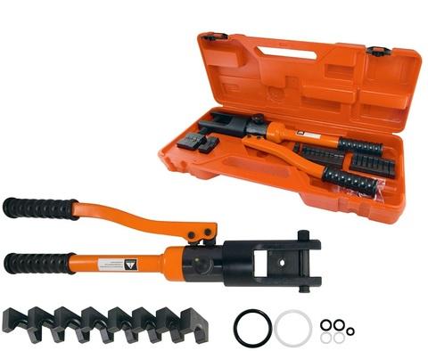 Пресс клещи гидравлические ПГРс-300 с набором матриц (10-300мм2), 12 штук, МастерЭлектрик  TDM