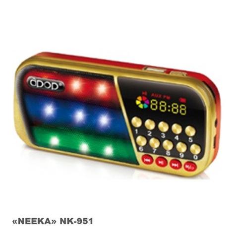 Портативная колонка Neeka NK-951 MP3/FM/MicroSD/USB