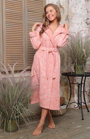 Бамбуковый женский халат Belinda с капюшоном (EFW)