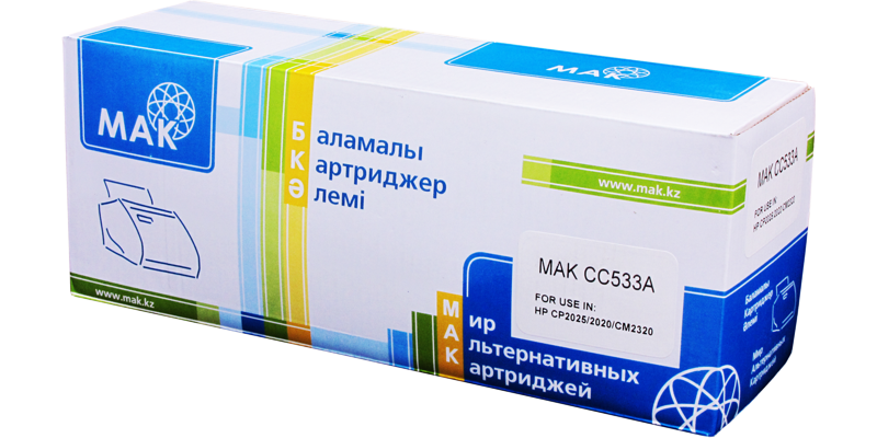 MAK №304A CC533A CARTRIDGE-318/718/418/118, пурпурный (magenta)