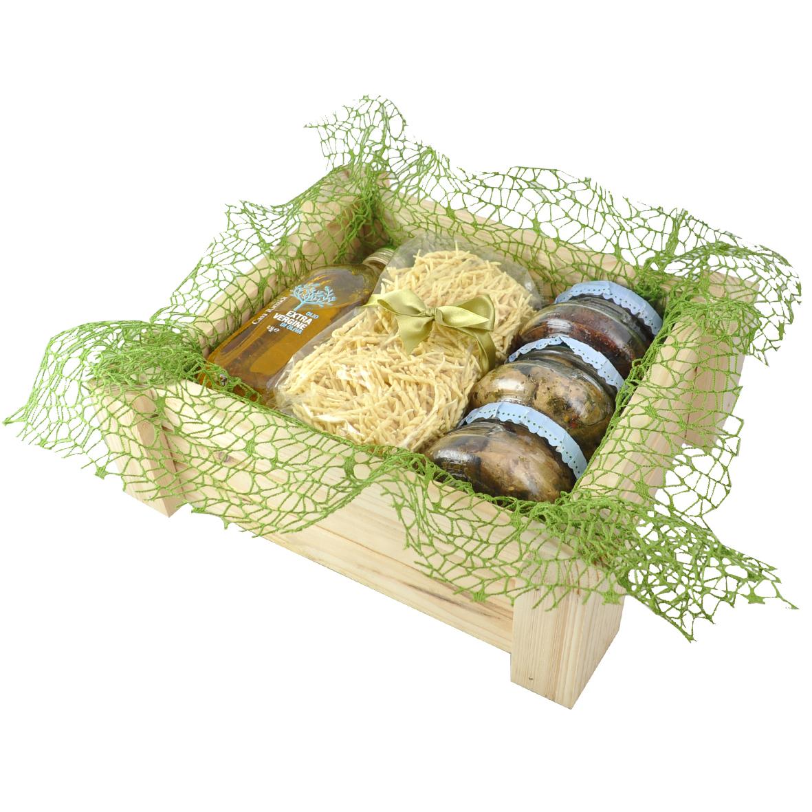 Набор подарочный Grigliato в деревянном ящике