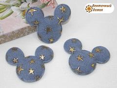Мягкий декор джинсовые Минни со звездами голубые