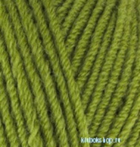 Пряжа Lanagold (Alize) 485 Зеленая черепаха, фото