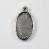 Сеттинг - основа - подвеска для камеи или кабошона 17х11 мм (цвет - античное серебро)