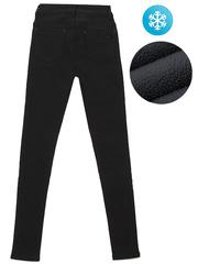 F077 джинсы женские утепленные, черные