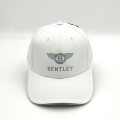 Кепка с вышитым логотипом Бентли (Бейсболка Bentley) белая