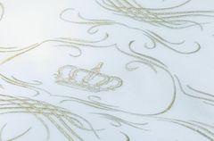 Пододеяльник 180х200 Christian Fischbacher Luxury Nights Crown 709 золотая вышивка