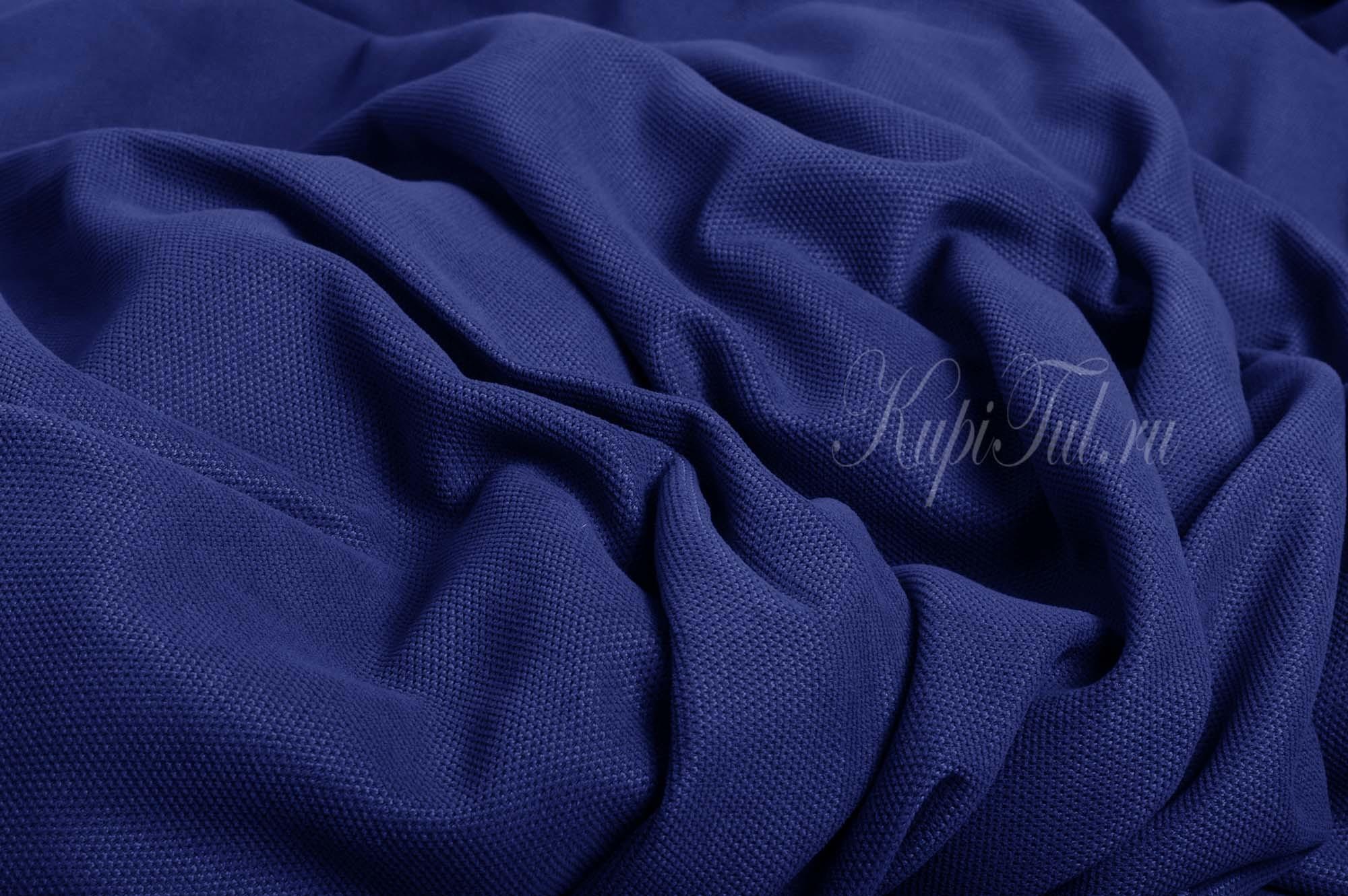 Kadife (синий). Шторы из стриженного бархата.