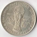 K6080, 1980, Болгария, 1 лев Чемпионат Мира по футболу в Испании 1982 proof