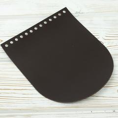"""Клапан для сумочки кожаный """"Темно-коричневый"""" 19,5 см на 15,5 см"""