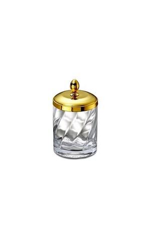 Емкость для косметики малая 88801O Salomonic Spiral Gold от Windisch