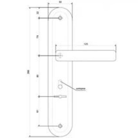 Ручки на планке  Р-С 023 CR хром (НР-85.0423-СR)