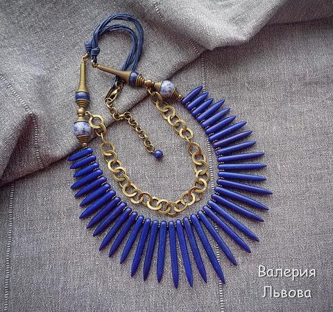 Цепь (цвет - античная бронза) 10 мм, примерно 5 м (Этническое колье. Пример)