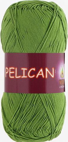 Пряжа Pelican (Vita cotton) 3995 Молодая зелень