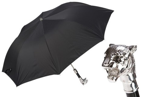 Зонт складной Pasotti Silver Tiger Folding Umbrella, Италия.
