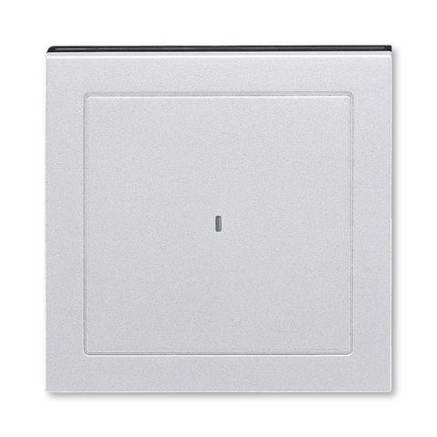 Лицевая панель карточного выключателя. Цвет Серебро / дымчатый. ABB. Levit(Левит). 2CHH590700A4070