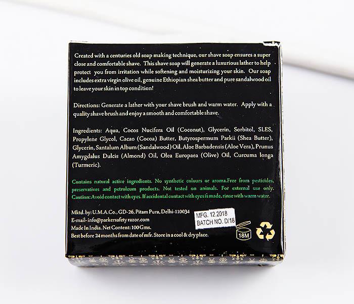 RAZ470 Сандаловое мыло для бритья PARKER с маслами (сменный блок, 100 гр) фото 02